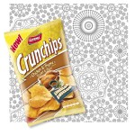 Illustration eines Vektor-Mosaik-Musters für Crunchips Limited Edition