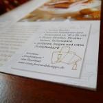 Illustration einer Bastelanleitung für eine Zeitschriften-Beilage von Ferrero zum Thema Weihnachten