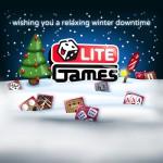 Illustration einer digitalen Weihnachtskarte für die LITE Games GmbH