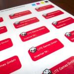 Design und RZ von Inventar-Stickern