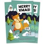 Weihnachtliche Klappkarte für Kunden und Auftraggeber
