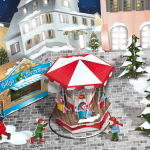 Illustration eines winterlichen Apotheken-Schaufenster Displays // Agentur: Stein Promotions GmbH  // Kunde: Boehringer Ingelheim