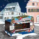 Illustration eines winterlichen Apotheken-Schaufensters // Agentur: Stein Promotions // Kunde: Boehringer Ingelheim