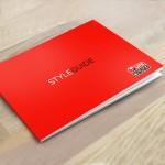 Definition und visuelles Design von Gestaltungsrichtlinien in Form eines Styleguides