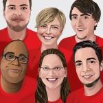 Profil Illustrationen des Teams für den Einsatz externer Kommunikationsmittel (Website) der LITE Games GmbH